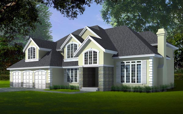 Country, European House Plan 91861 with 4 Beds, 5 Baths, 3 Car Garage Elevation