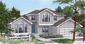 Traditional House Plan 91862 with 3 Beds, 3 Baths, 2 Car Garage Elevation