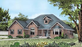 Ranch Southern Traditional House Plan 91863 Elevation