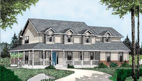 Country Farmhouse Southern House Plan 91865 Elevation