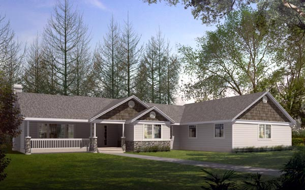 Ranch Traditional House Plan 91871 Elevation