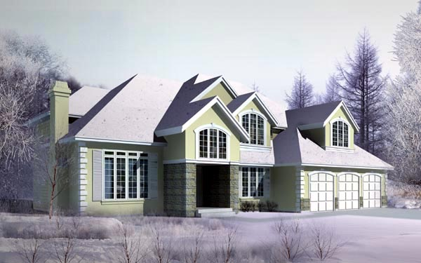 Country, European House Plan 91872 with 4 Beds , 5 Baths , 3 Car Garage Elevation