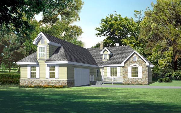 Craftsman, Traditional House Plan 91875 with 4 Beds, 3 Baths, 2 Car Garage Elevation