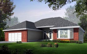 House Plan 91881 | Ranch Traditional Style Plan with 1836 Sq Ft, 2 Bedrooms, 2 Bathrooms, 2 Car Garage Elevation