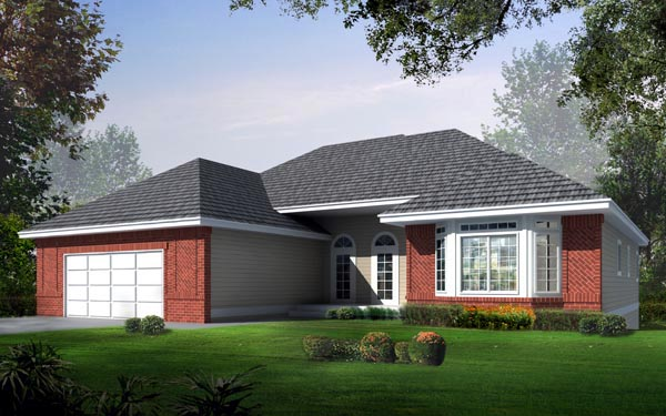 Ranch Traditional House Plan 91881 Elevation