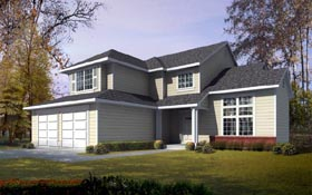 Contemporary Traditional House Plan 91884 Elevation