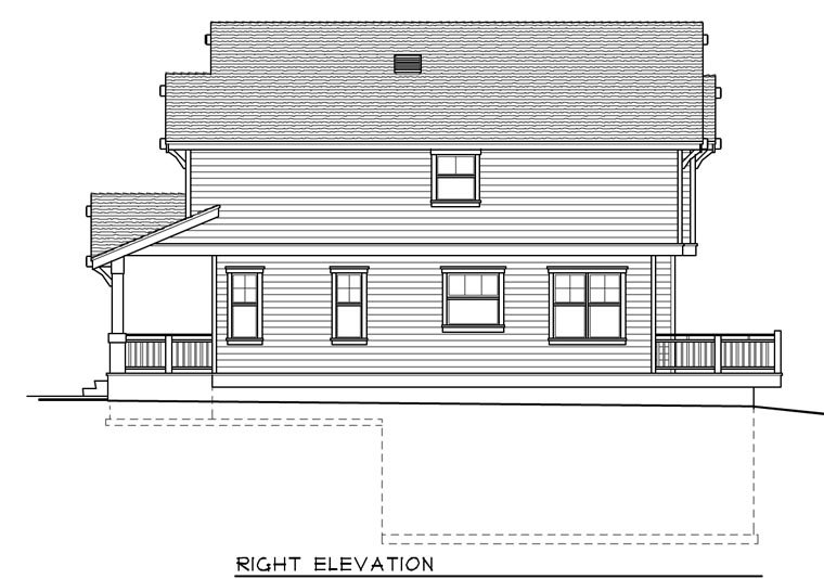 Bungalow, Craftsman House Plan 91885 with 5 Beds, 3 Baths, 4 Car Garage Picture 2