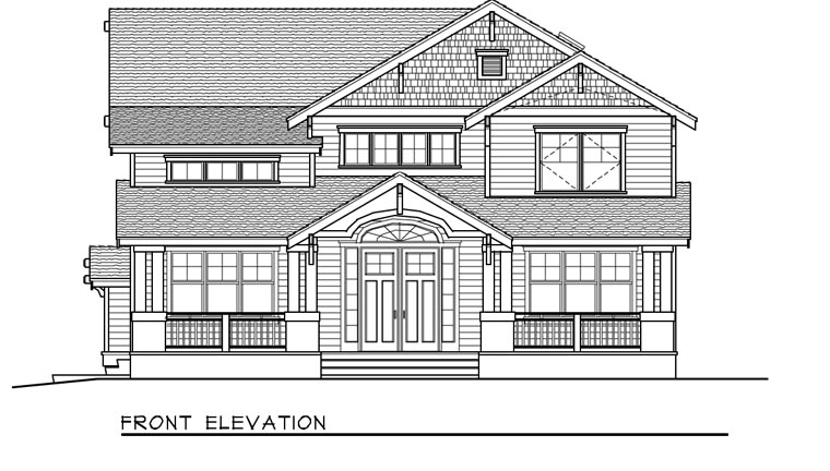 Bungalow, Craftsman House Plan 91885 with 5 Beds, 3 Baths, 4 Car Garage Picture 3
