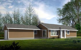 Ranch House Plan 91887 Elevation