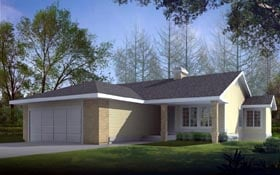 Ranch House Plan 91890 Elevation