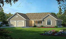 Ranch Traditional House Plan 91891 Elevation