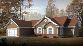 Ranch Traditional House Plan 91895 Elevation