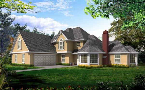 European Traditional House Plan 91897 Elevation