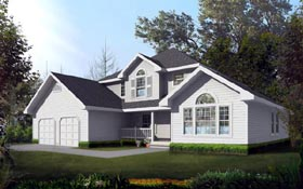 Traditional House Plan 91898 Elevation