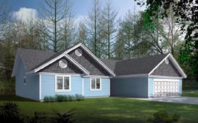 Ranch Traditional House Plan 91899 Elevation