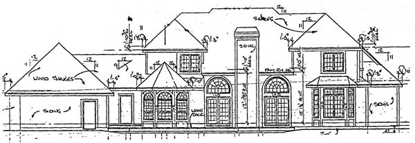 European House Plan 92048 Rear Elevation