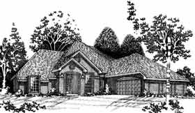 European, French Country House Plan 92200 with 4 Beds, 4 Baths Elevation