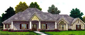 House Plan 92205 | European Style Plan with 2341 Sq Ft, 3 Bedrooms, 3 Bathrooms, 3 Car Garage Elevation