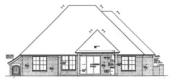 Country European House Plan 92206 Rear Elevation