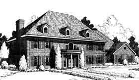 House Plan 92210 | European, French, Country Style House Plan with 5100 Sq Ft, 4 Bed, 4 Bath, 3 Car Garage Elevation