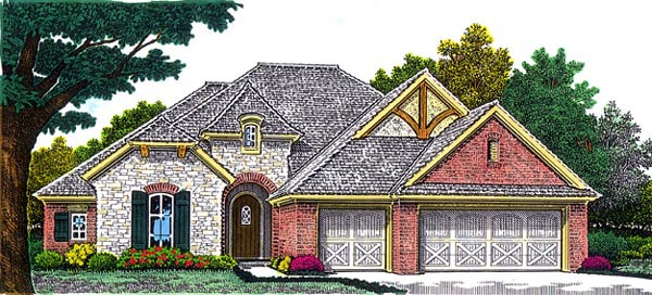 European House Plan 92211 Elevation