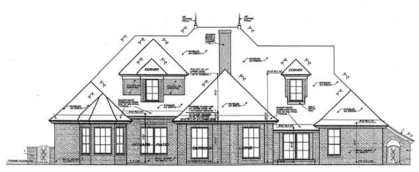 European French Country House Plan 92212 Rear Elevation