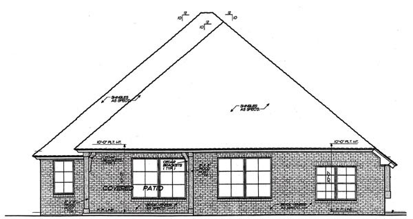 Country European House Plan 92215 Rear Elevation