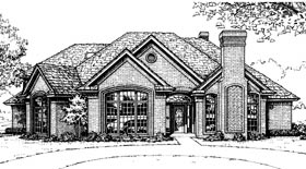 House Plan 92216 | European French Country Style Plan with 3486 Sq Ft, 4 Bedrooms, 4 Bathrooms Elevation