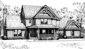 Bungalow Country European House Plan 92217 Elevation
