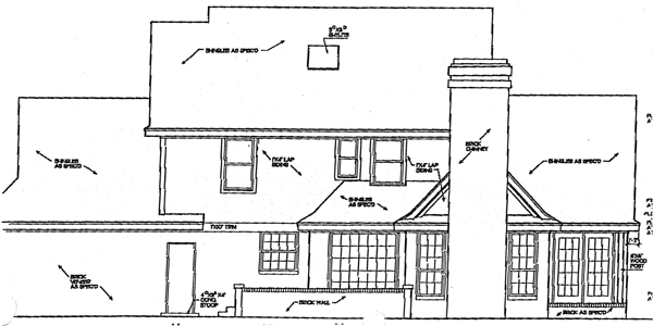 Bungalow Country European House Plan 92217 Rear Elevation