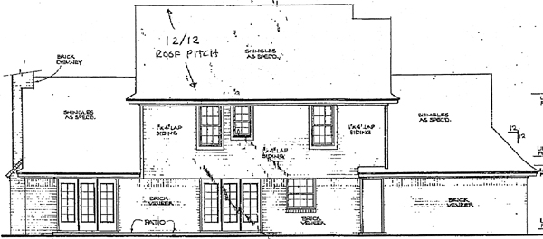 Bungalow Country Farmhouse House Plan 92218 Rear Elevation
