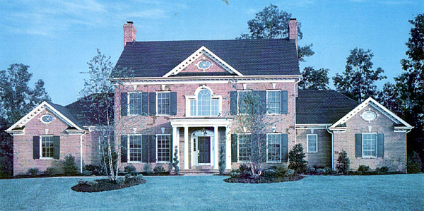 Colonial, French Country, Southern House Plan 92219 with 4 Beds, 4 Baths, 3 Car Garage Picture 1