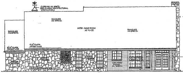 Country House Plan 92220 Rear Elevation