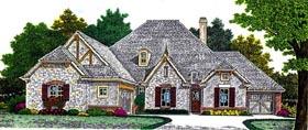 European House Plan 92223 Elevation