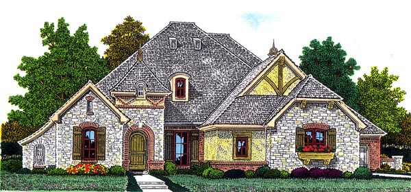European House Plan 92226 Elevation