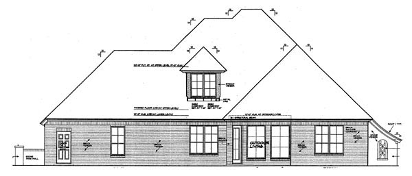 European House Plan 92226 Rear Elevation