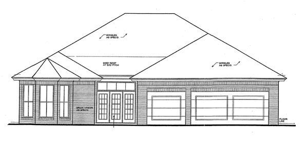 Bungalow House Plan 92227 Rear Elevation