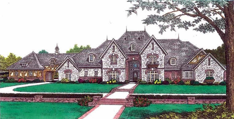 European French Country House Plan 92228 Elevation
