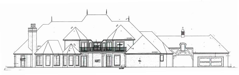 European French Country House Plan 92228 Rear Elevation