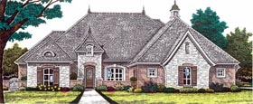 House Plan 92229 | European Style Plan with 2827 Sq Ft, 3 Bedrooms, 3 Bathrooms, 3 Car Garage Elevation