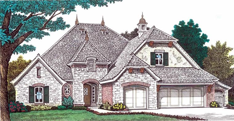 European House Plan 92232 Elevation