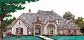 European House Plan 92233 with 4 Beds, 4 Baths, 3 Car Garage Elevation