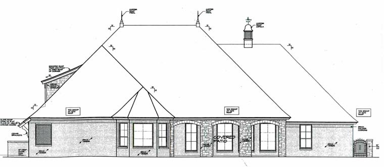 European House Plan 92233 Rear Elevation