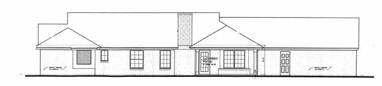 European House Plan 92235 Rear Elevation