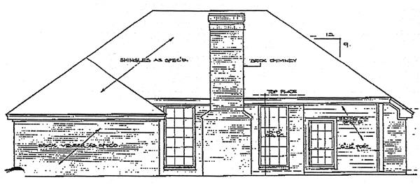 European House Plan 92238 Rear Elevation