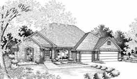 House Plan 92240 | European Ranch Style Plan with 2579 Sq Ft, 4 Bedrooms, 3 Bathrooms, 3 Car Garage Elevation