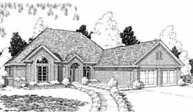 European House Plan 92241 Elevation
