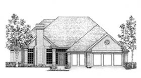 European House Plan 92244 Elevation