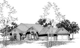 House Plan 92246 | Traditional Style Plan with 2358 Sq Ft, 4 Bedrooms, 3 Bathrooms, 3 Car Garage Elevation
