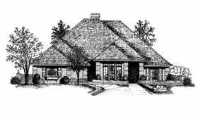 European House Plan 92247 Elevation